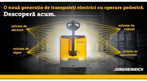 O nouă generație de transpaleți electrici cu operare pedestră